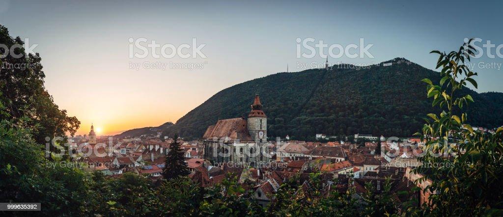 Brasov  sunrise panorama stock photo