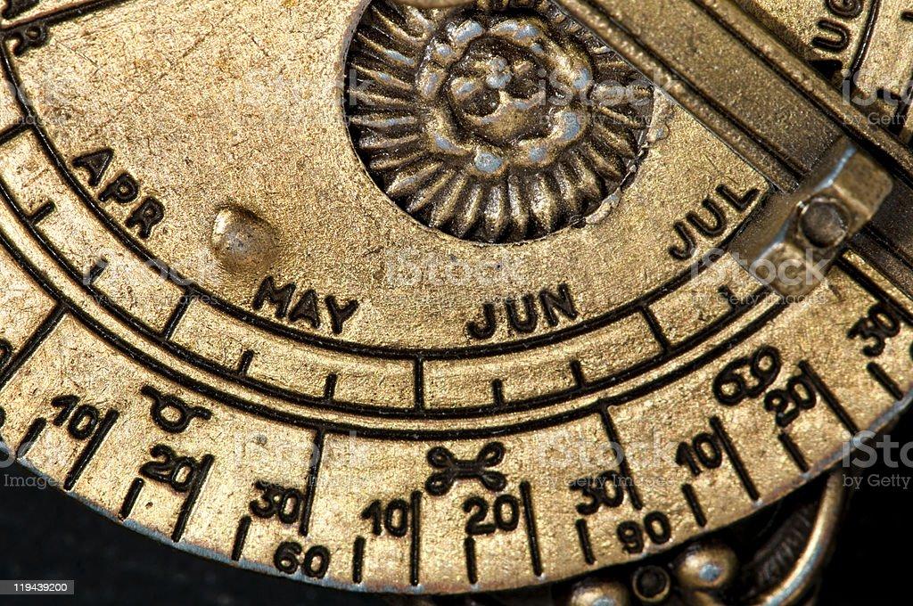 Astrolabio de latón, madieval astronomological instrumento de navegación. - foto de stock
