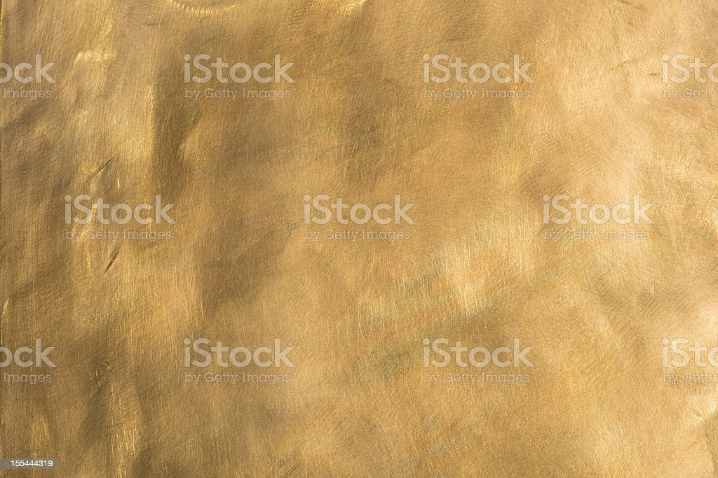 Brass background brown golden copper metal plate XXL stock photo