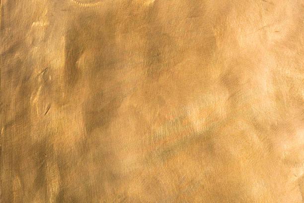Brass background brown golden copper metal plate XXL stock photo