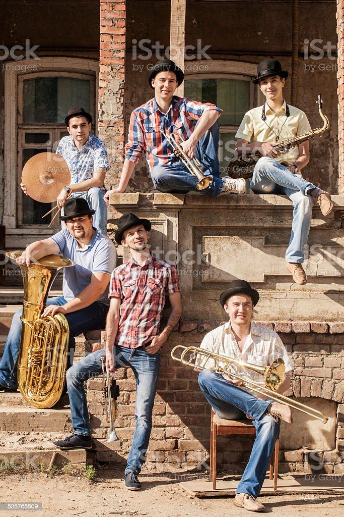 brass band stock photo