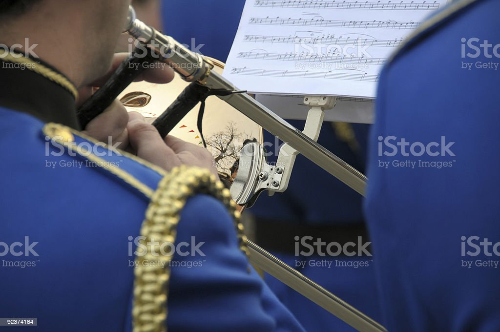 Brass band royalty-free stock photo