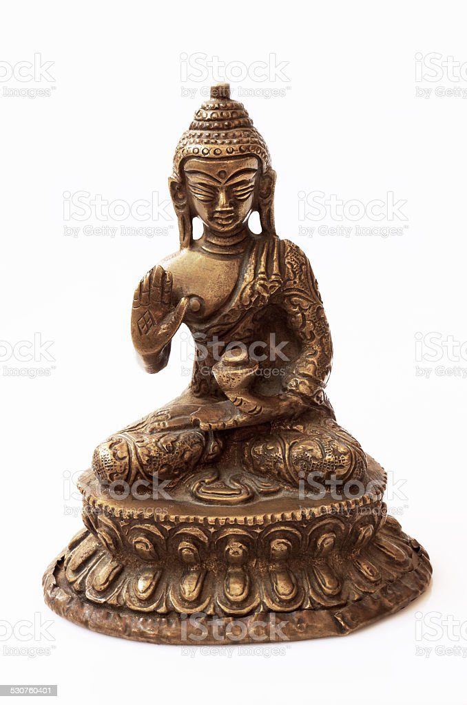 Brass Buddha stock photo