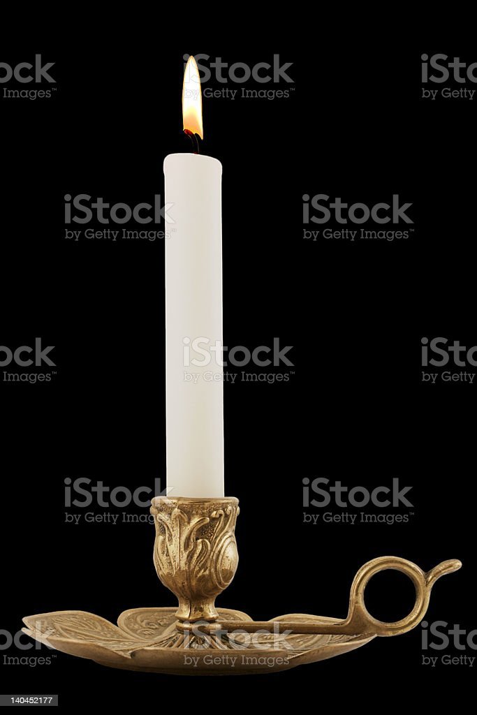 Brass Candleholder royalty-free stock photo