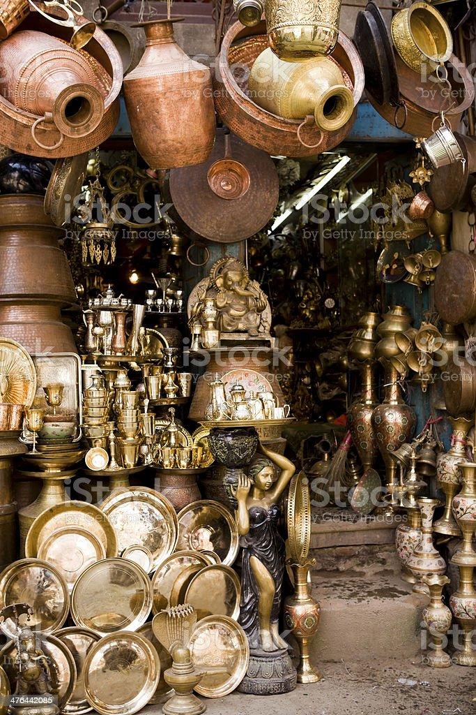 Brass Copper Craft Product Kathmandu Nepal stock photo