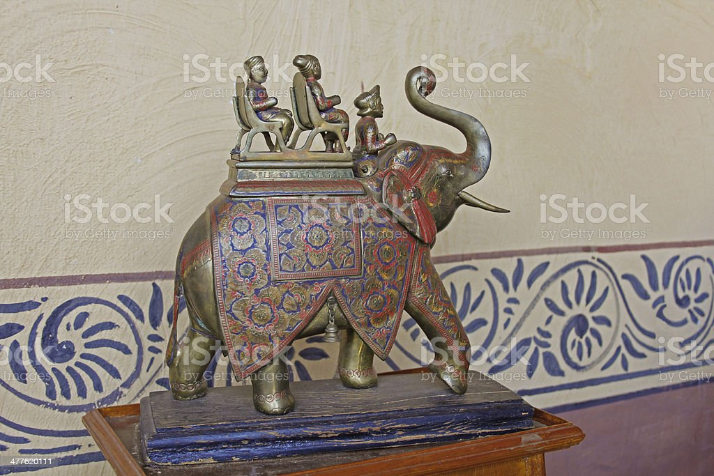 brass elephant royalty-free stock photo