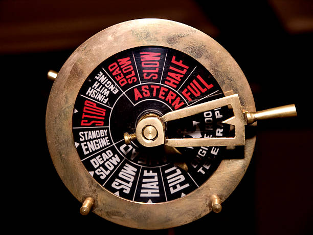 brass engine telegraph - naturediver stock pictures, royalty-free photos & images