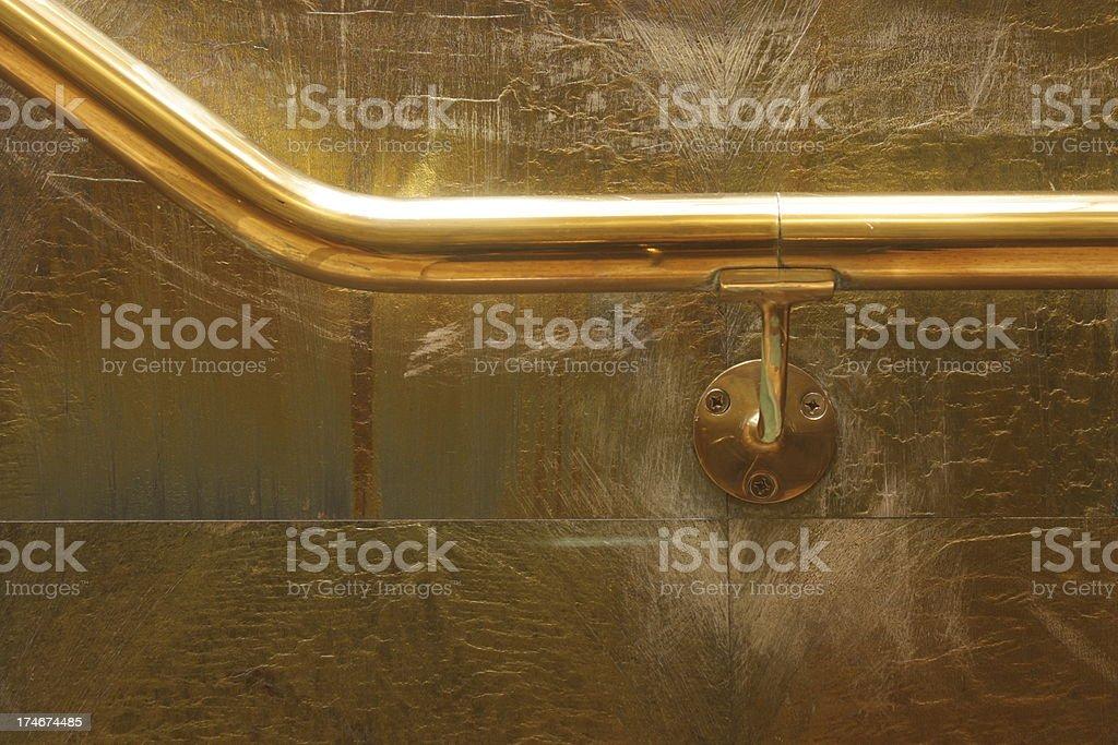 Brass Hand Rail 2 royalty-free stock photo