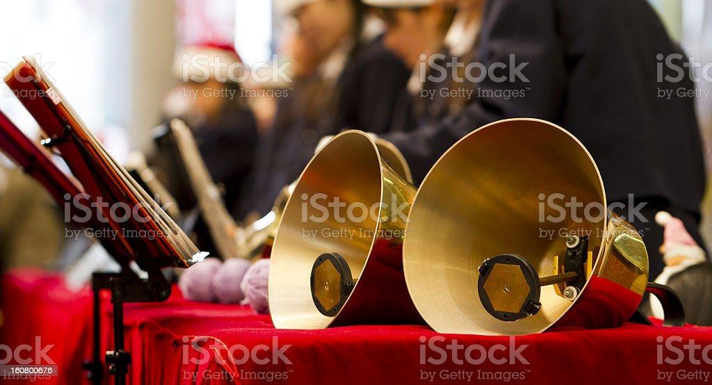 Brass Handbell Performance stock photo