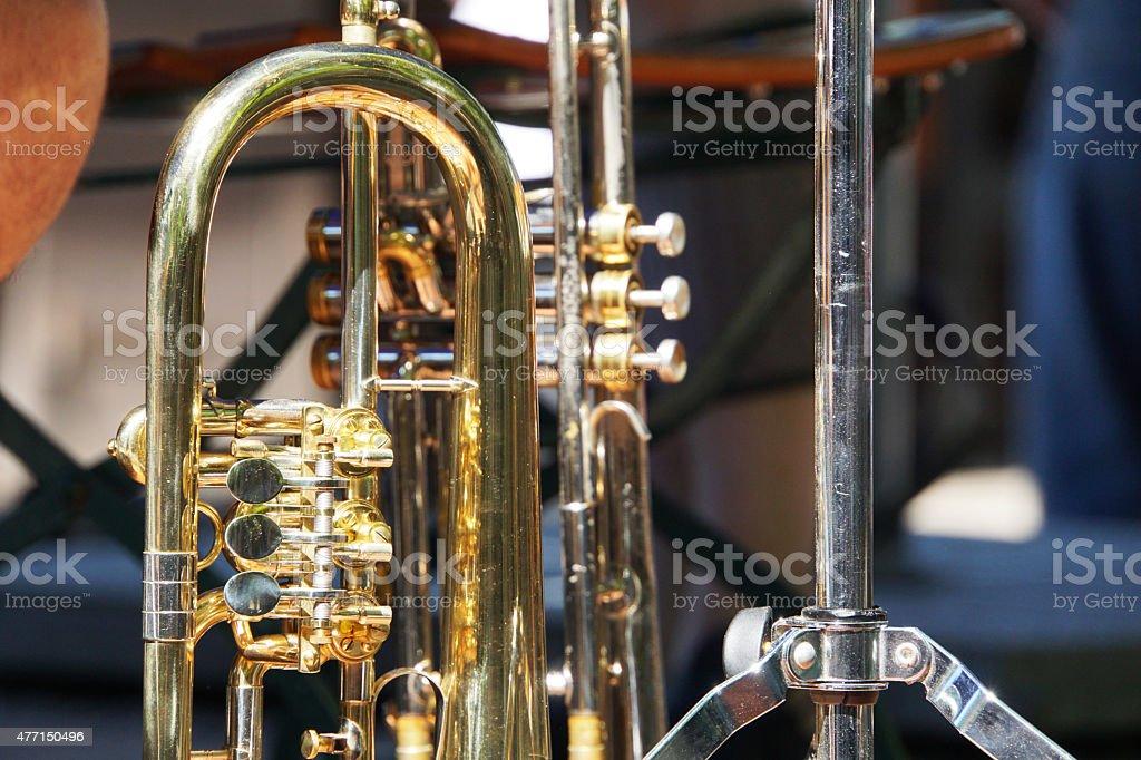 Brass Intruments stock photo