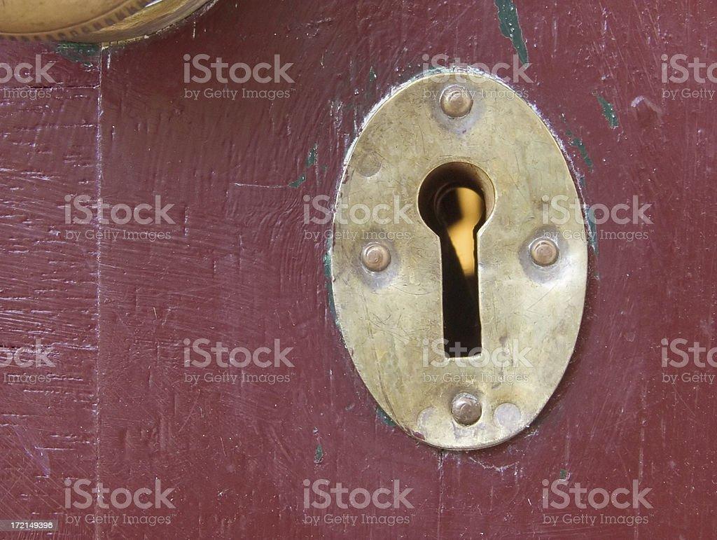 brass key hole royalty-free stock photo