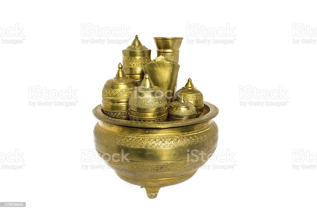 Brass Kitchenware royalty-free stock photo