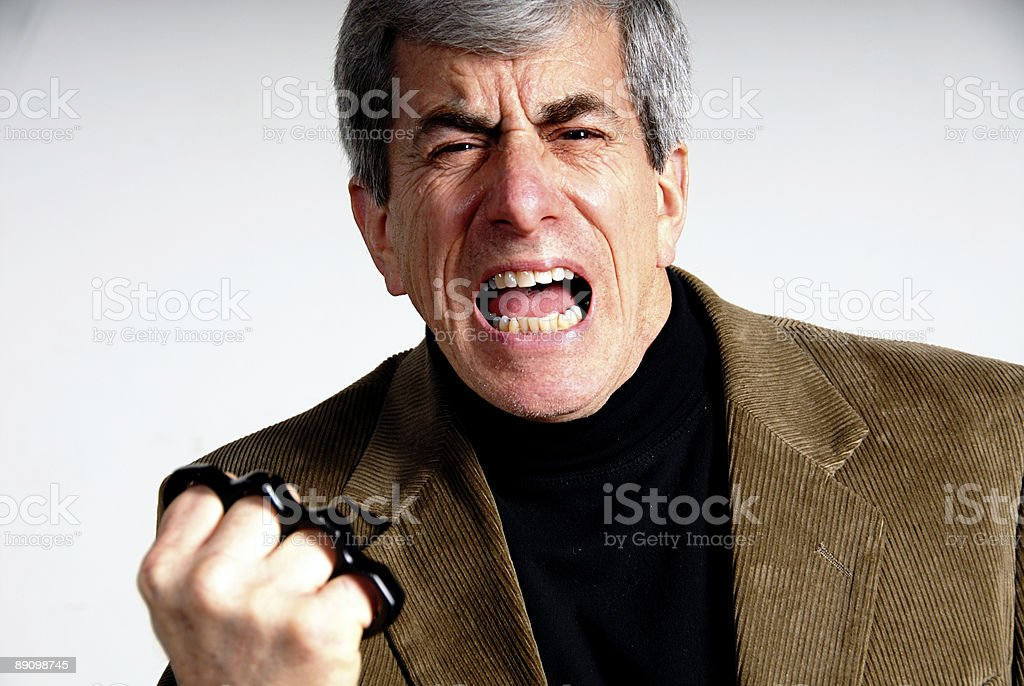 Brass Knuckles Guy stock photo