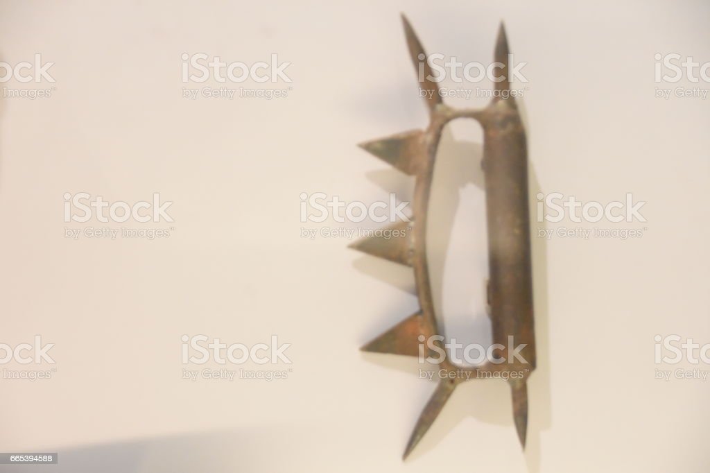 Brass Knuckles stock photo