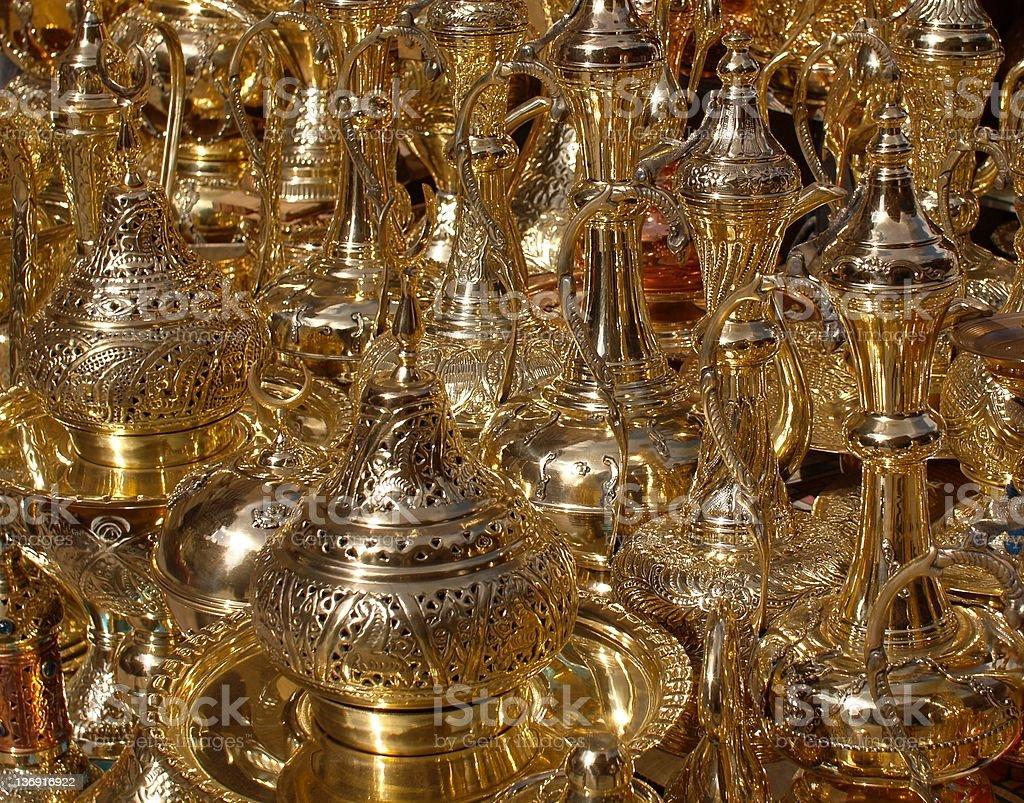 Brass Lanterns Khan-el-Khalili stock photo