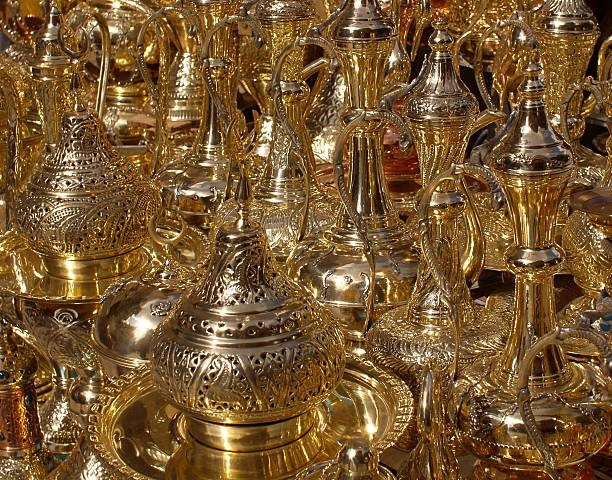 Brass Lanterns Khan-el-Khalili stock photo