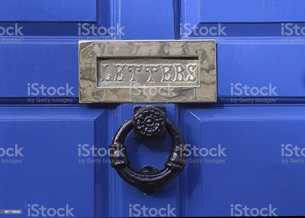 Brass Letter Box Stock Photo More Pictures Of Blue Istock