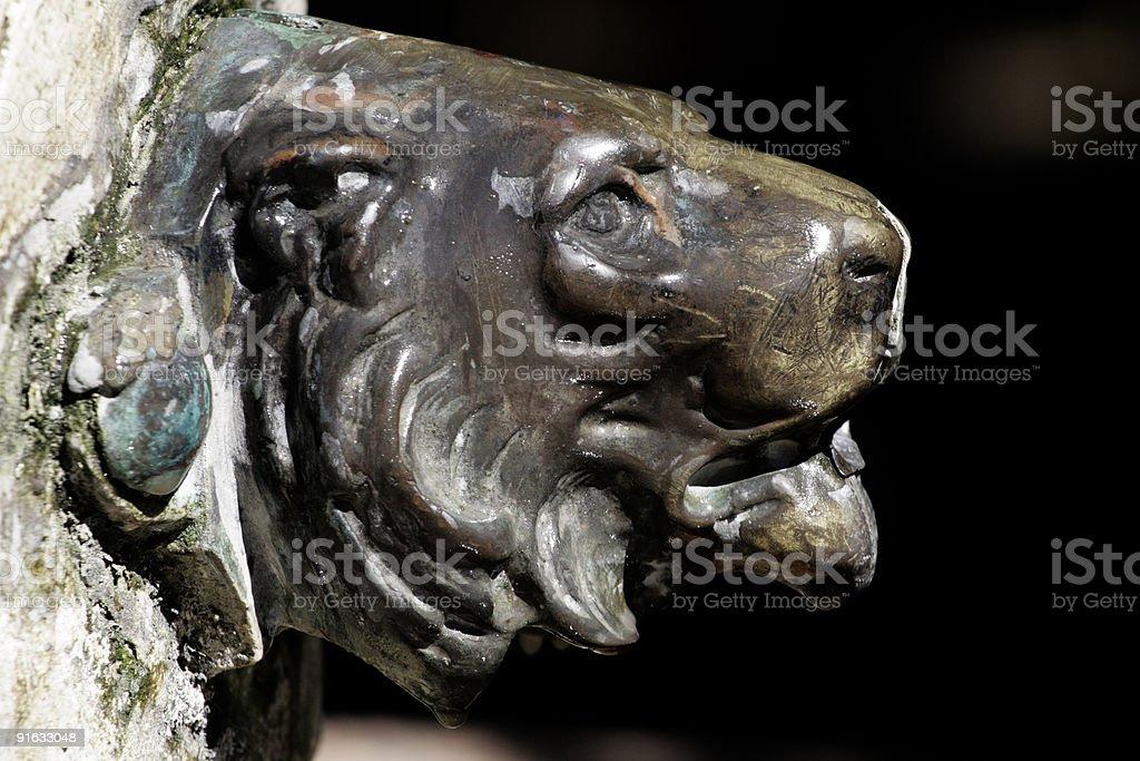 Brass Lion royalty-free stock photo