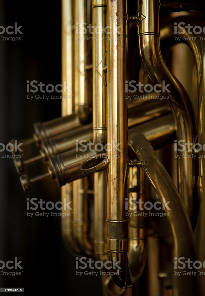 Brass Musical Instrument stock photo