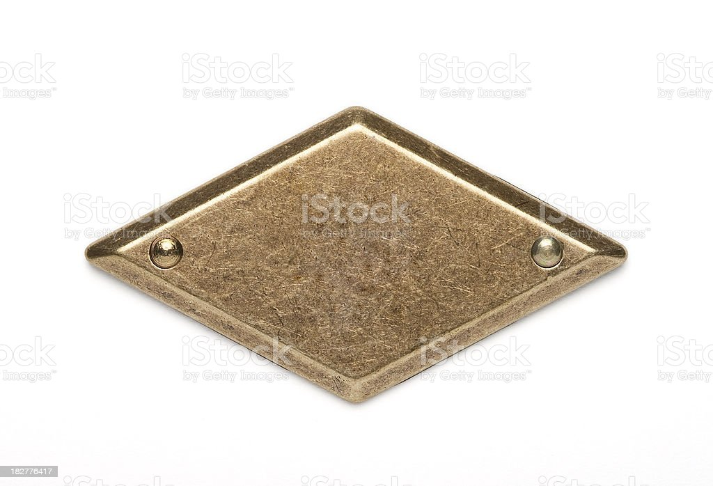 Brass nameplate royalty-free stock photo