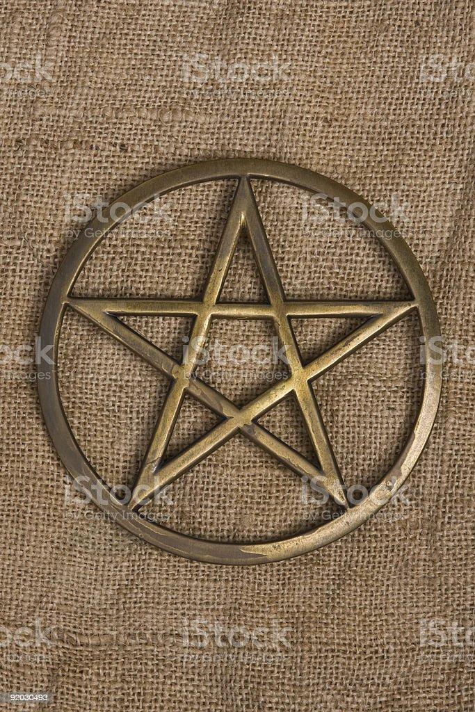 Brass Pentacle / Pentagram royalty-free stock photo
