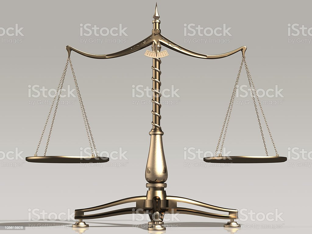 Brass scales antique object illustration royalty-free stock photo