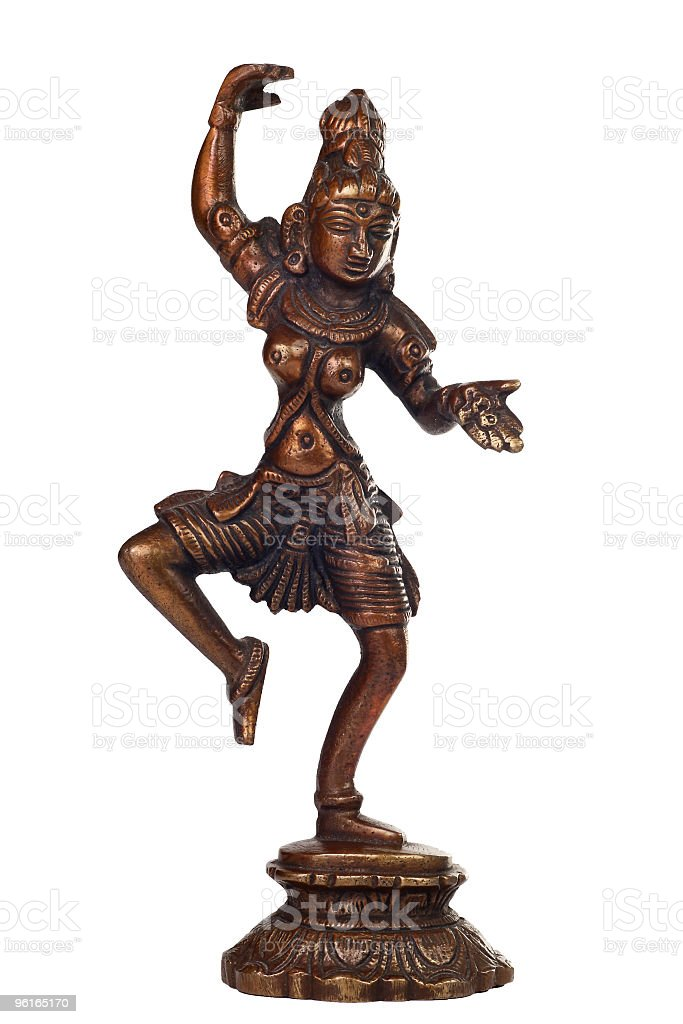 Brass sculpture of Shiva stock photo