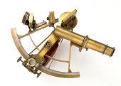 istock Brass Sextant on white 183538603
