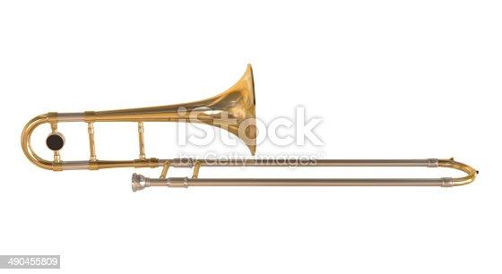 istock Brass Trombone 490455809