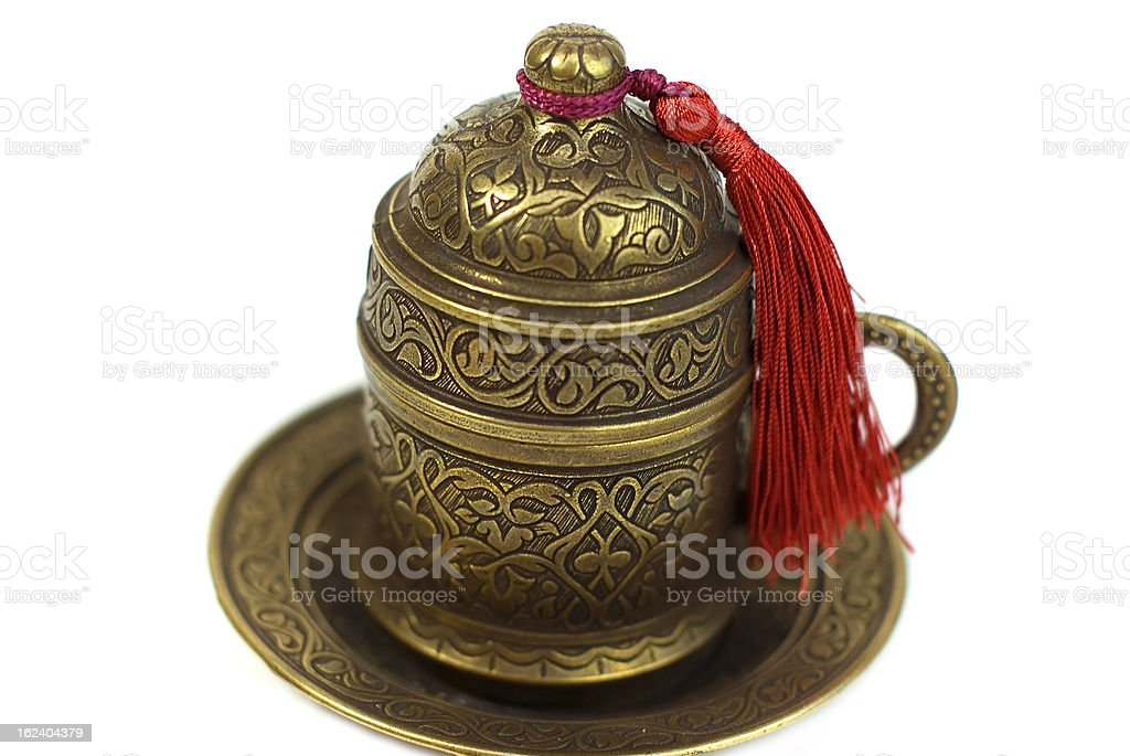 brass Turkish cup for coffee royalty-free stock photo