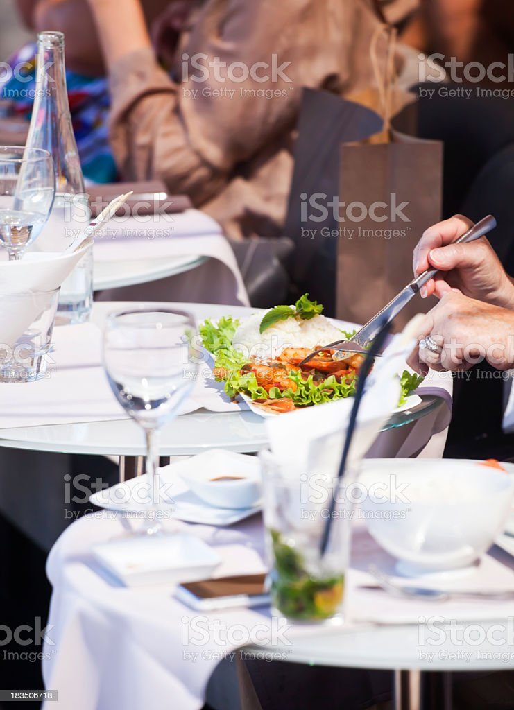 Brasserie Lunch royalty-free stock photo