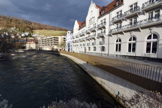 brasserie schwanen (baden) - wiedenmeier baden stock-fotos und bilder