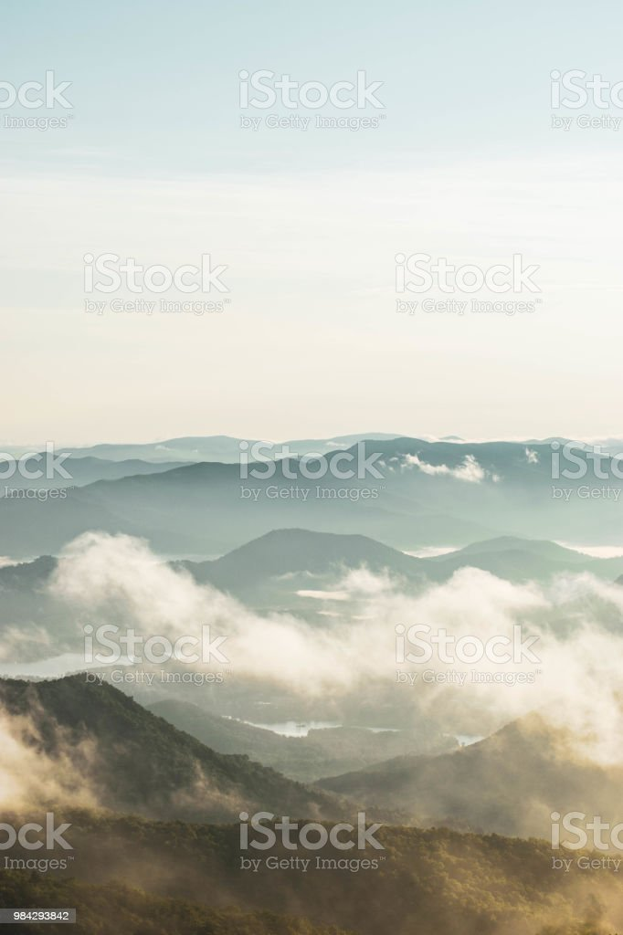 Brasstown Sunrise stock photo