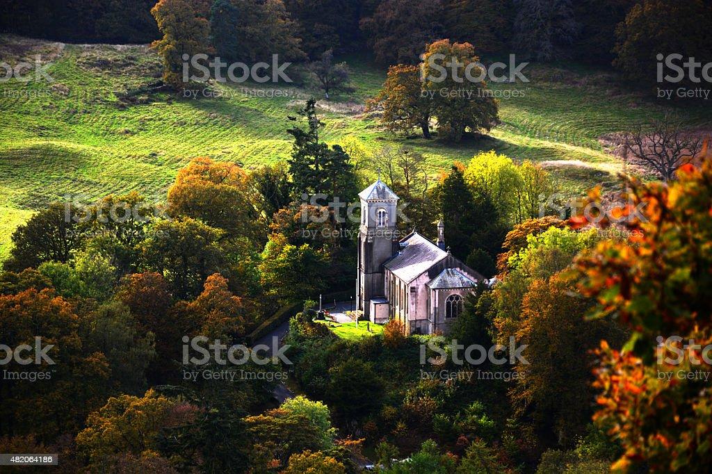 Brathay Church stock photo
