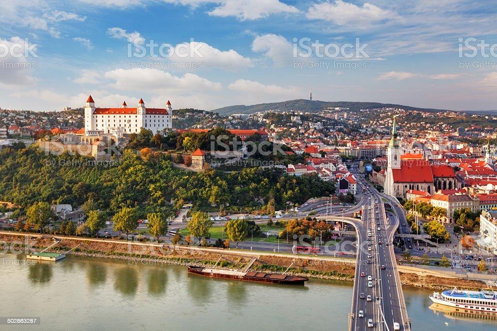 Bratislava - aerial view stock photo