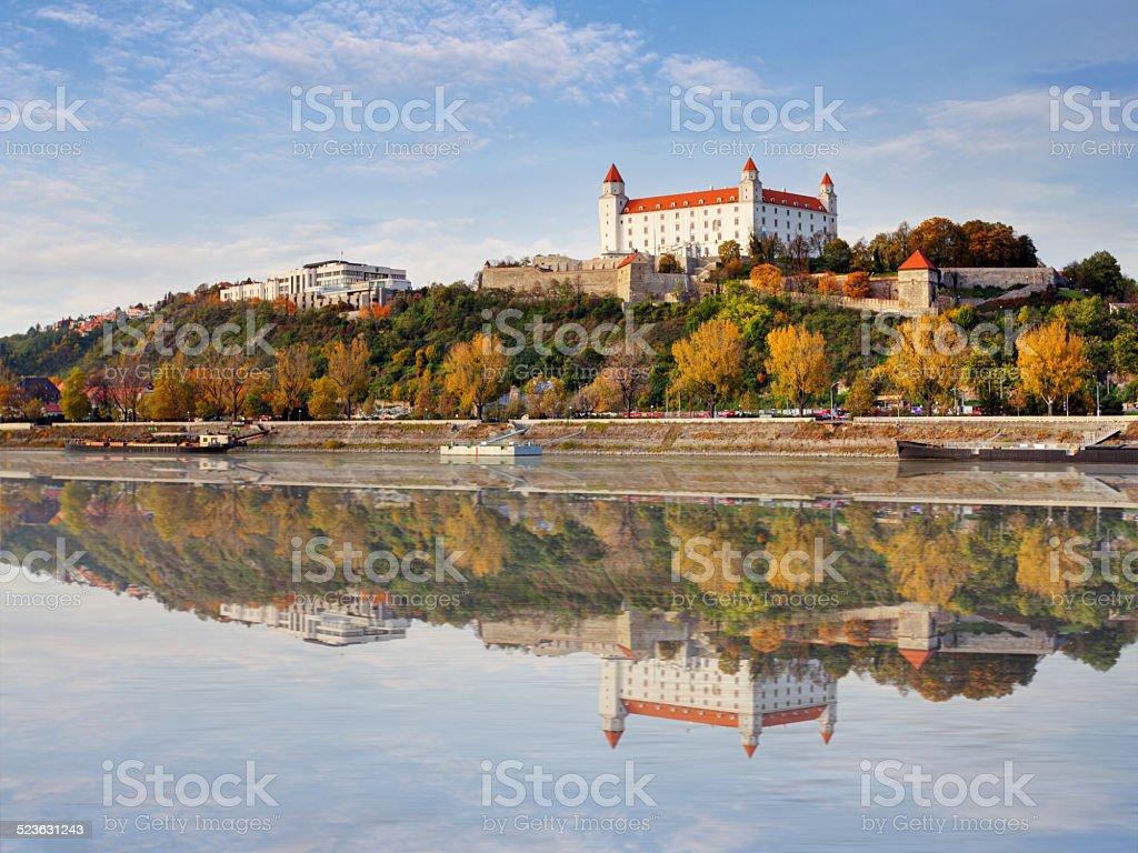 Bratislava  at autumn, Slovakia stock photo