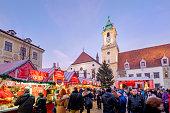 istock Bratislava at Christmas, the Hlavné námestie (Main Square)-Slovakia 696166222