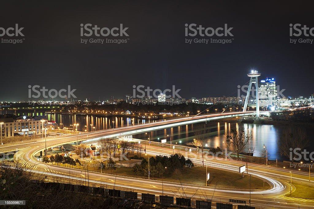 Bratislava at Night stock photo