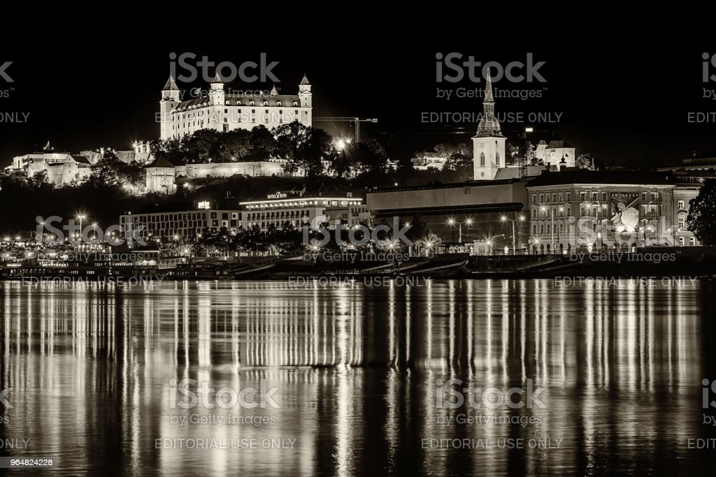 Bratislava at night royalty-free stock photo