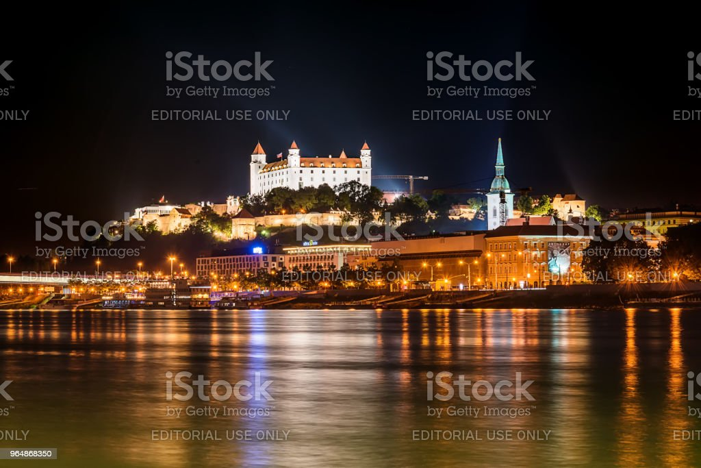 Bratislava at night royalty-free stock photo