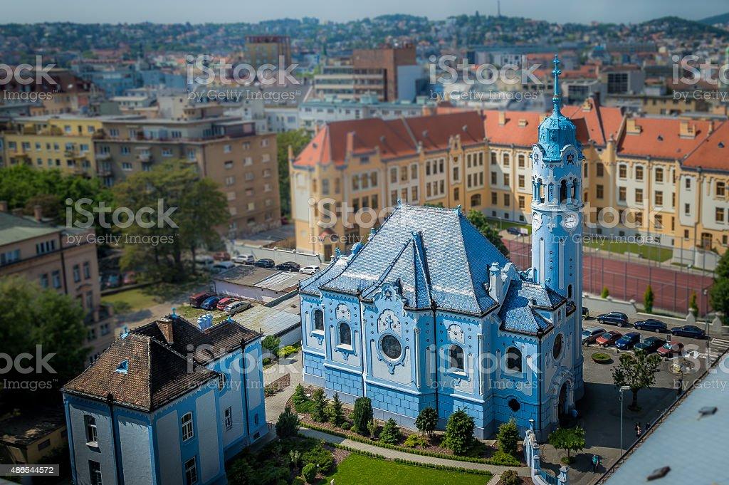 Bratislava Blue Church stock photo