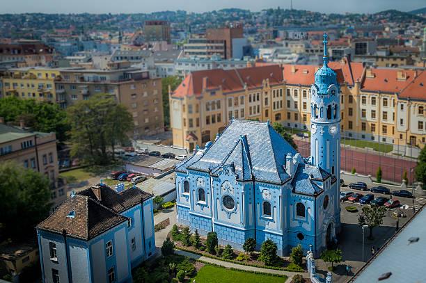 bratislava 블루 교회 - 슬로바키아 뉴스 사진 이미지
