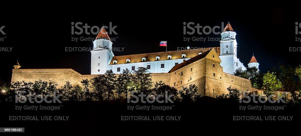 Bratislava Castle or Bratislavsky Hrad zbiór zdjęć royalty-free