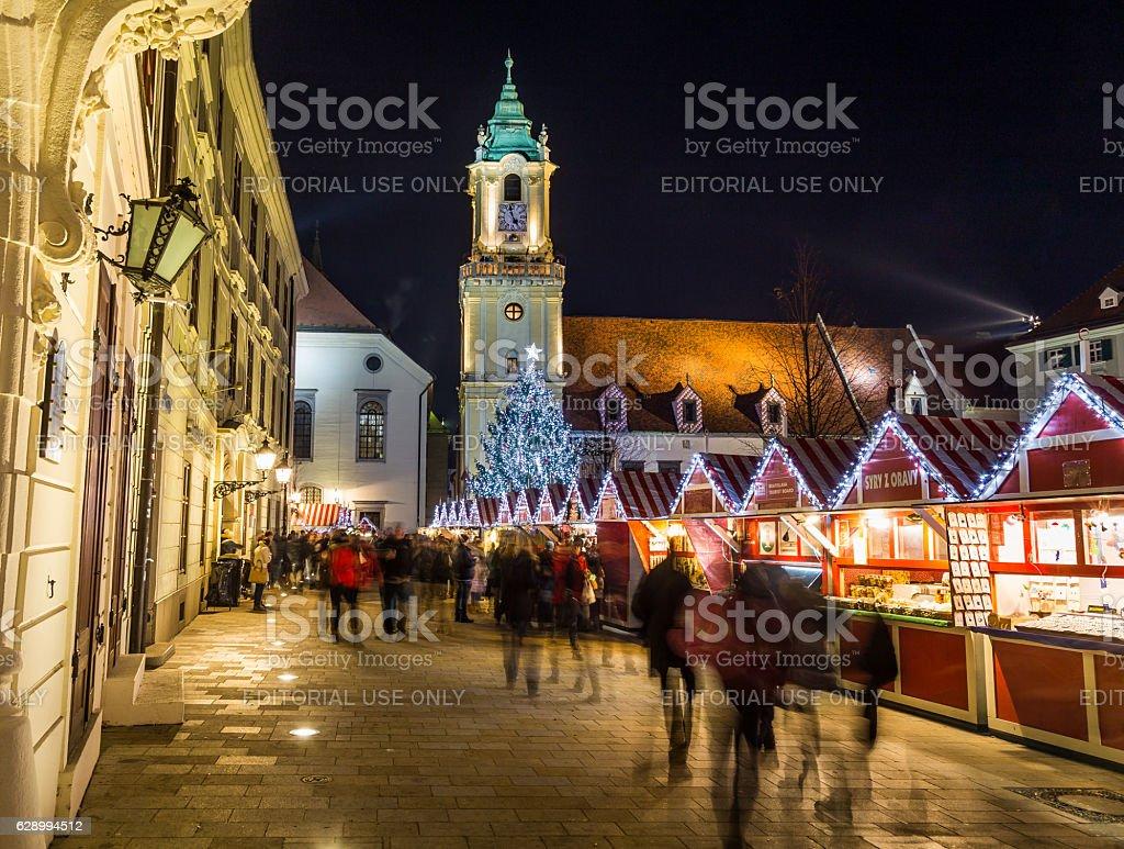 Bratislava Christmas Market stock photo