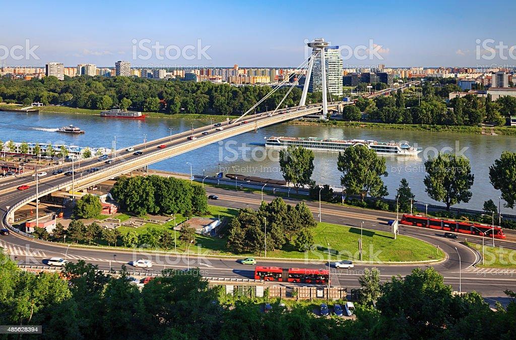 Bratislava cityscape, Slovakia stock photo