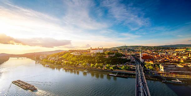 Sur la ville de Bratislava vue sur la vieille ville - Photo