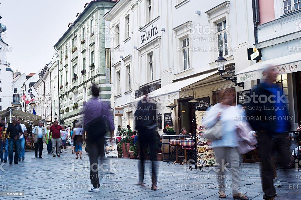 Bratislava downtown stock photo