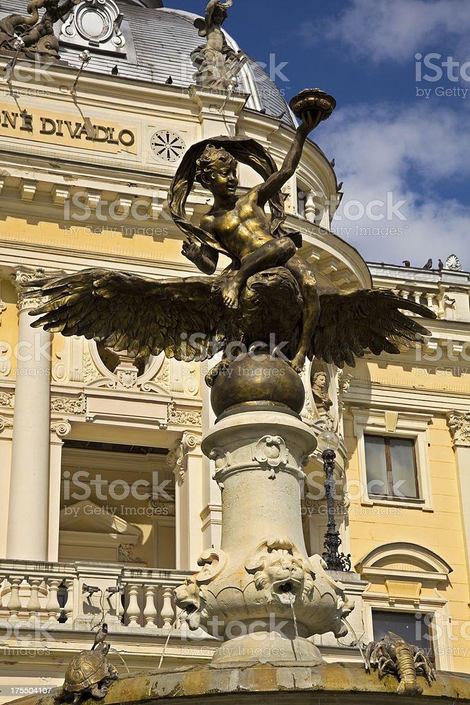 Bratislava - Ganimedes fountain stock photo