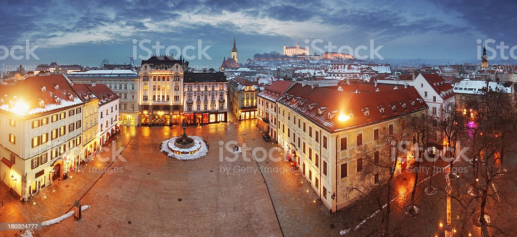 Bratislava panorama - Slovakia, Eastern Europe city stock photo
