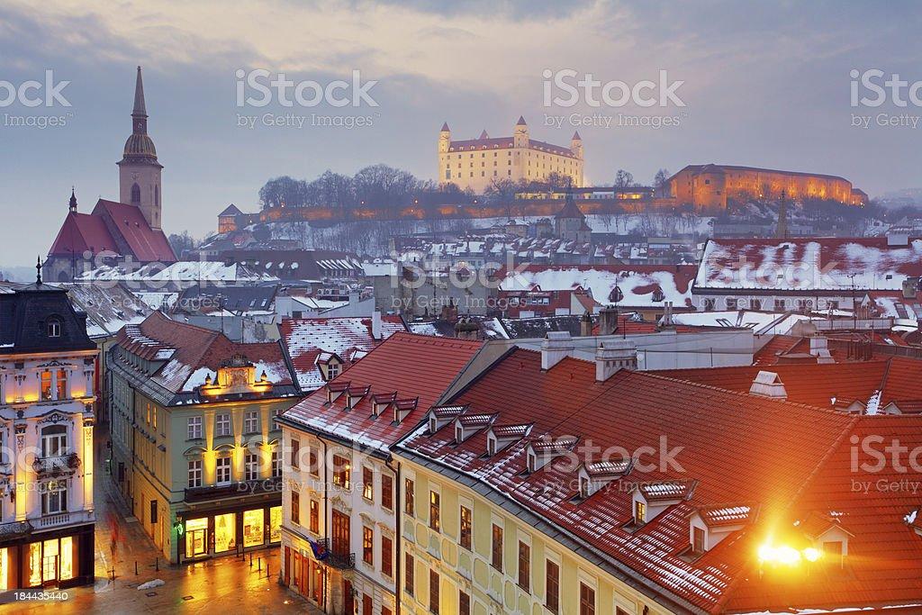 Bratislava panorama - Slovakia stock photo